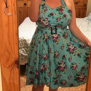 ModCloth Hell Bunny Floral Halter Dress